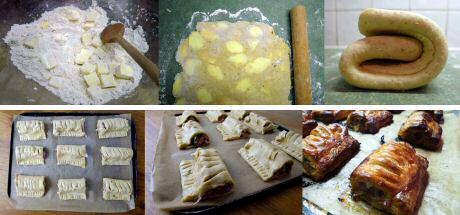 Recept om zelf bladerdeeg te maken om te gebruiken in lekkere, pittige worstenbroodjes